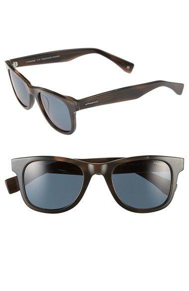 cede20d4b3 Women s Polaroid Eyewear 50mm Polarized Retro Sunglasses - Grey Horn  Grey  Polar
