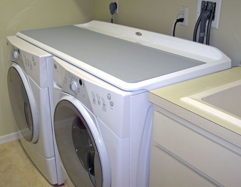 how to support counter top over washer and dryer
