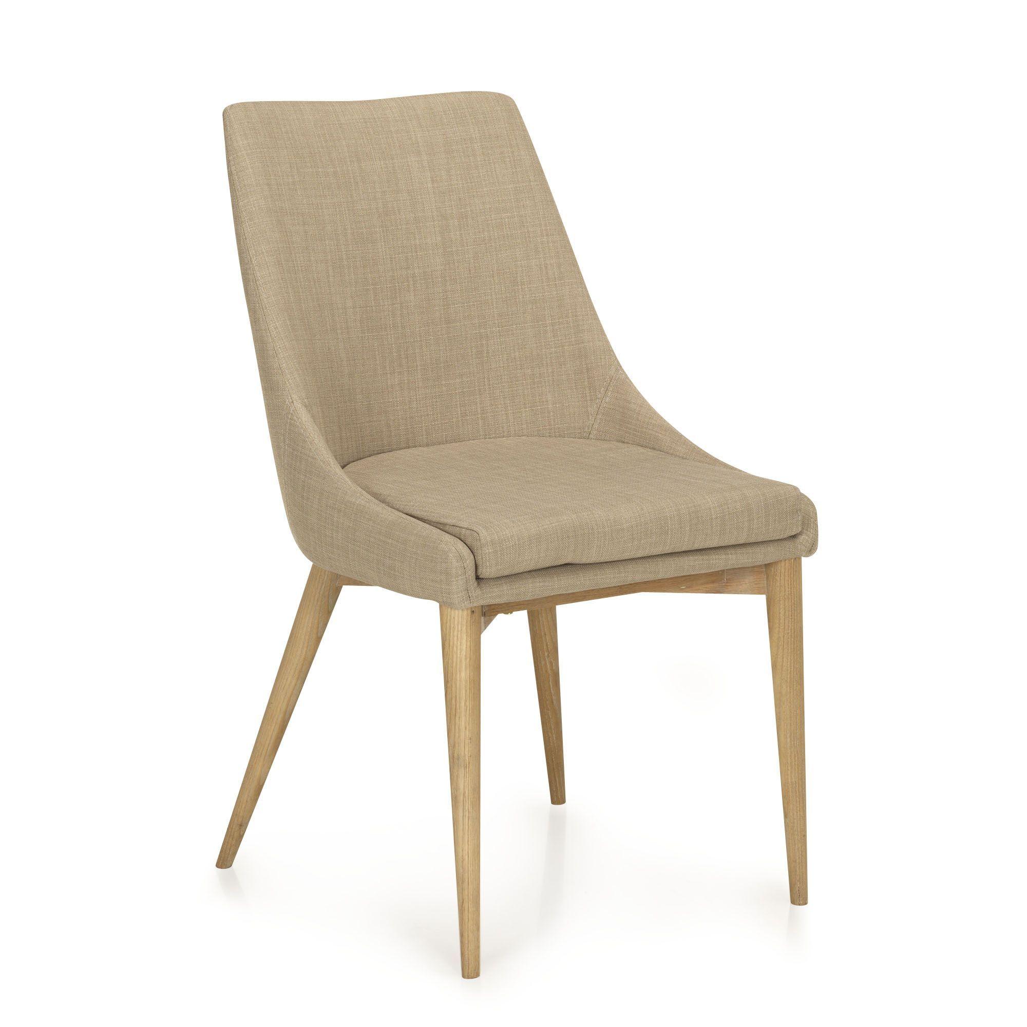 Chaise en hévéa et frêne beige esprit retro - Abby - Chaises-Tables ...