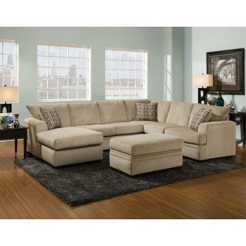Cornelius Collection Platinum Sectional Sectionals Sectional