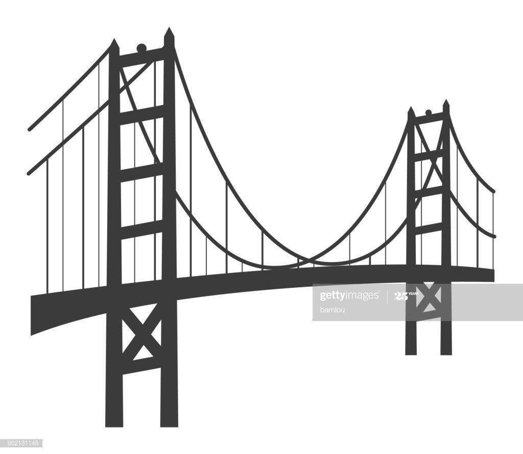 Vector Of Golden Gate Bridge Icon Bridge Icon Golden Gate Bridge Architecture Graphics
