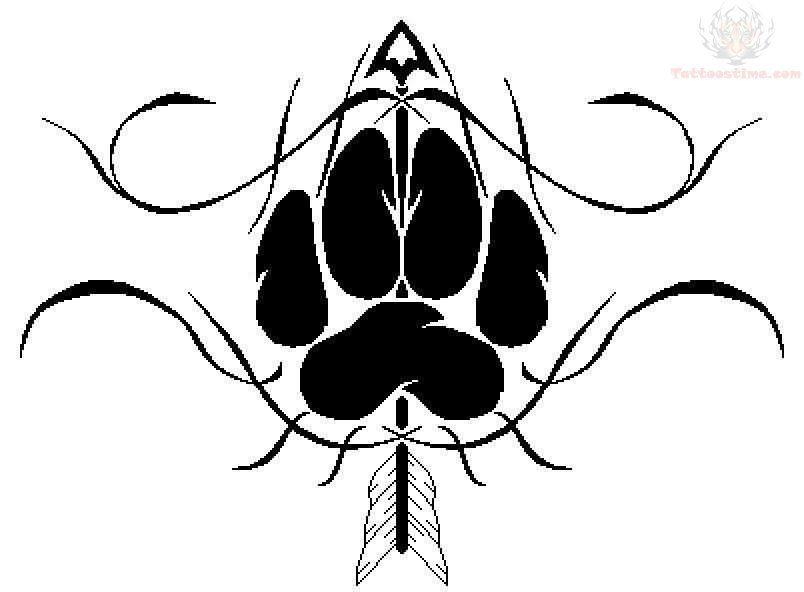Arrow Tattoo Design Google Haku Wolf Paw Tattoos Paw Tattoo Wolf Tattoos