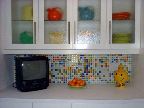 glass tile backsplash photo gallery | bijou kitchen backsplash