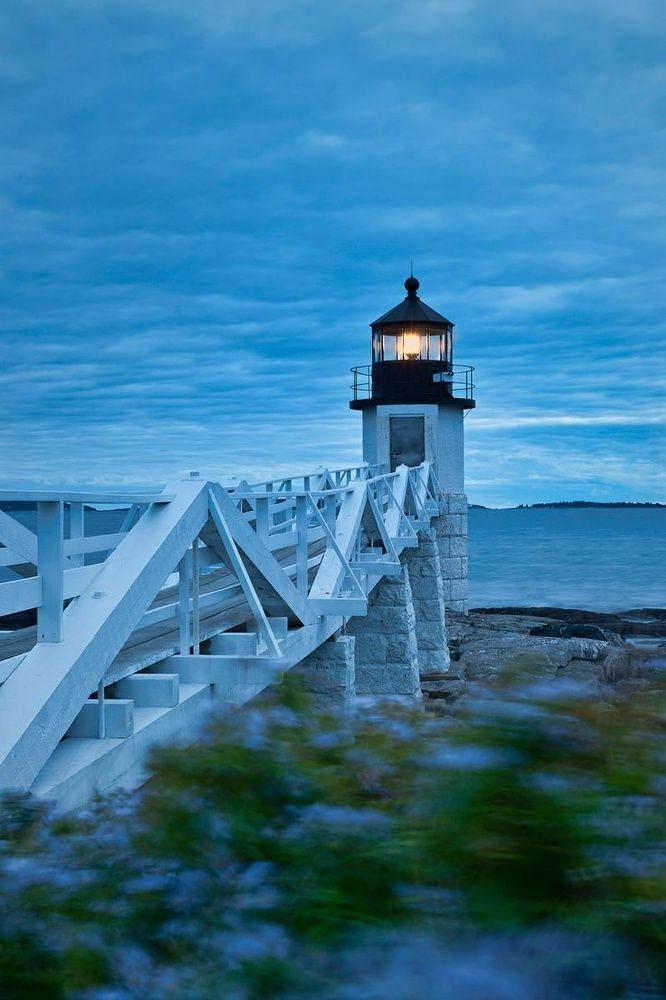 Faro del punto de Marshall, Maine