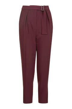 PETITE Belted Peg Trousers