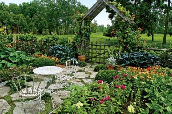 Gartenweg Naturstein Pergola Metall-Sitzmöbel g a r d e n - garten mit natursteinen gestalten