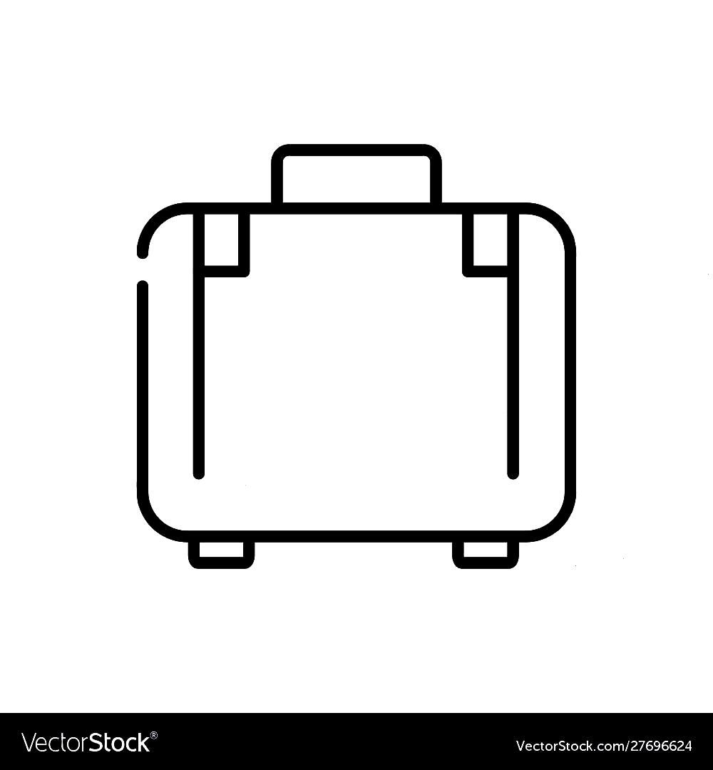 Suitcase luggage tourism travel thick line Vector Image , - -Suitcase luggage tourism travel thick