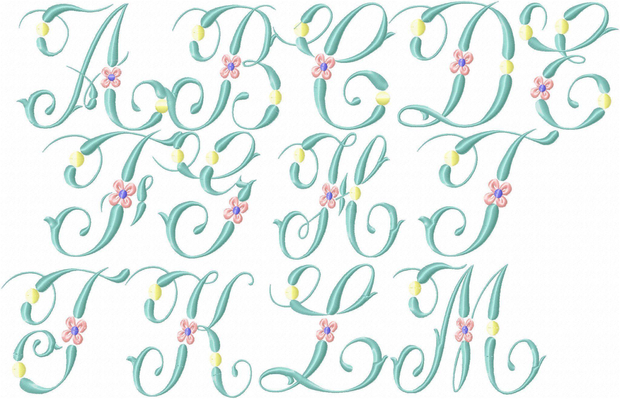 Springtime Vintage Font In 2020 Vintage Fonts Embroidery Fonts Spring Time