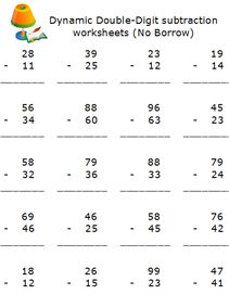 free elementary school subtraction math worksheets, online math ...