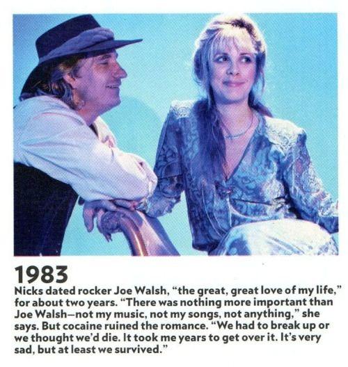Joe Walsh & Stevie Nicks | ROCK STAR COUPLES | Stevie nicks, Stevie