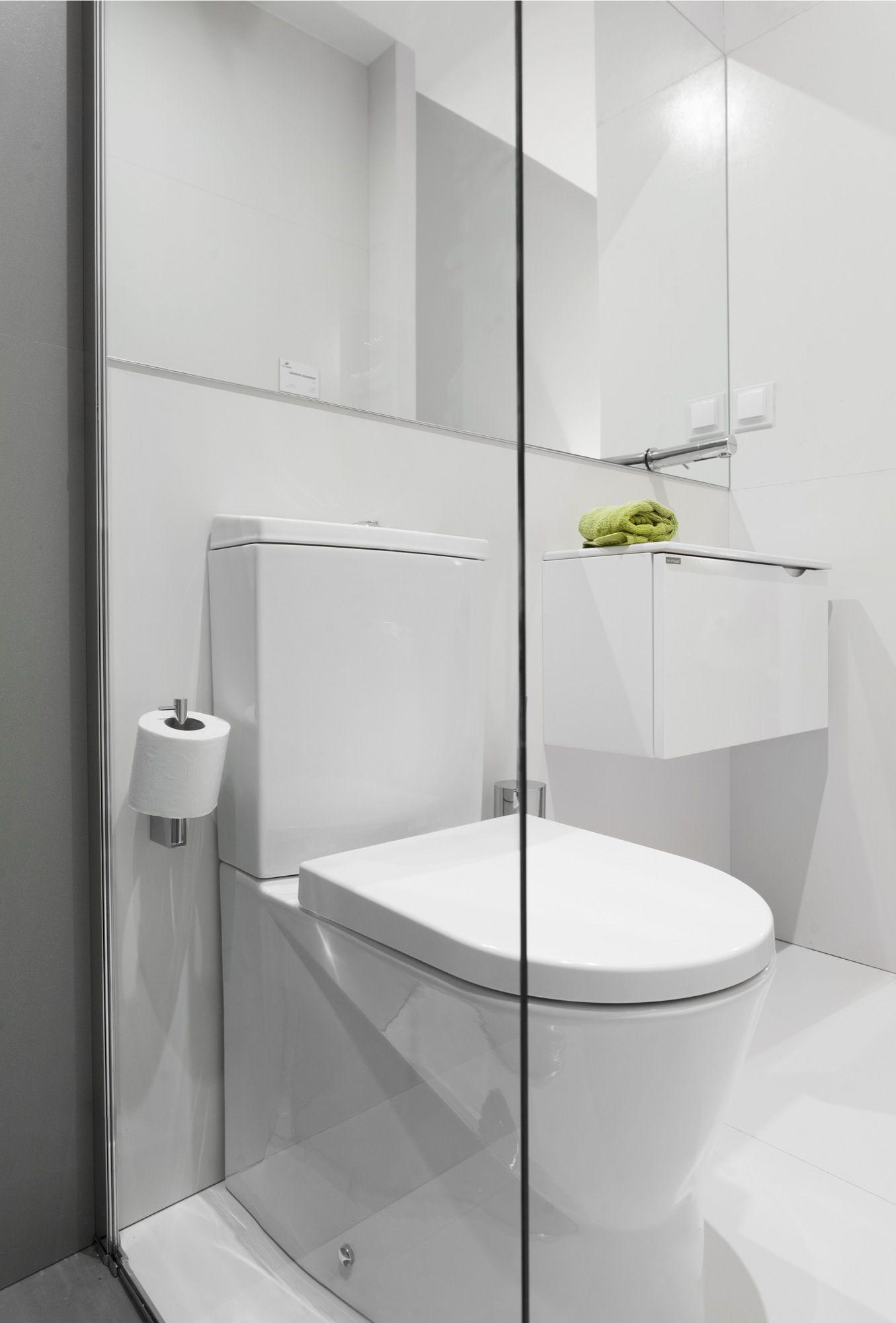Narrow bathroom with Sanindusa products Small toilet