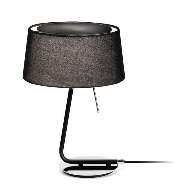 Lámpara de mesa Negra de diseño #lamparas #iluminacion #interiorismo ...
