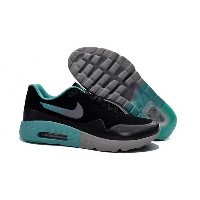 huge selection of cc252 0409f Mens Nike Air Max 1 Ultra Moire CH Shoes Black Cyan