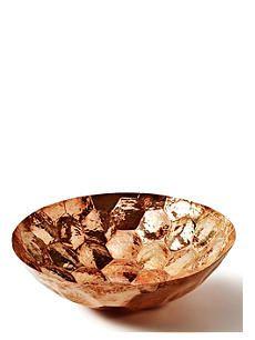 TOM DIXON Hex large copper bowl 38cm