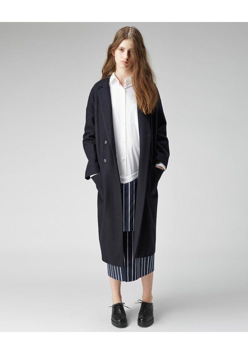 jacquemus classic coat on la garconne