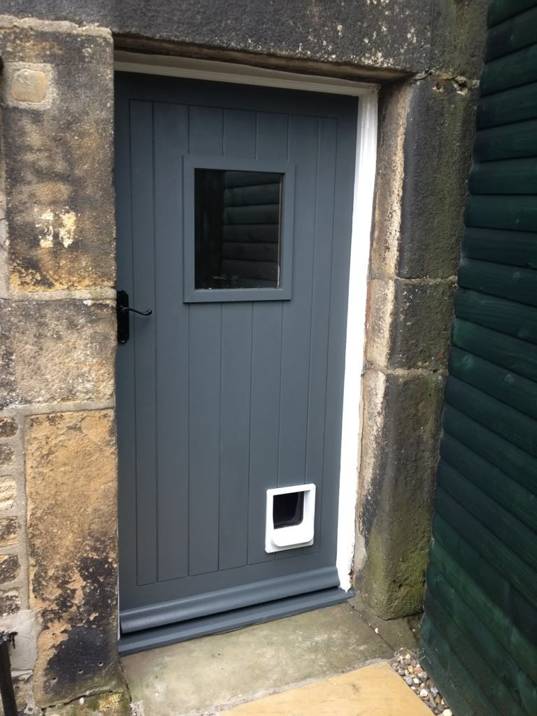 Front door in farrow and ball down pipe best grey front - Farrow ball exterior paint concept ...
