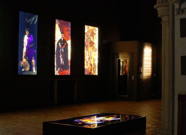 George Chakravarthi Duratran and Light box exhibition Metro
