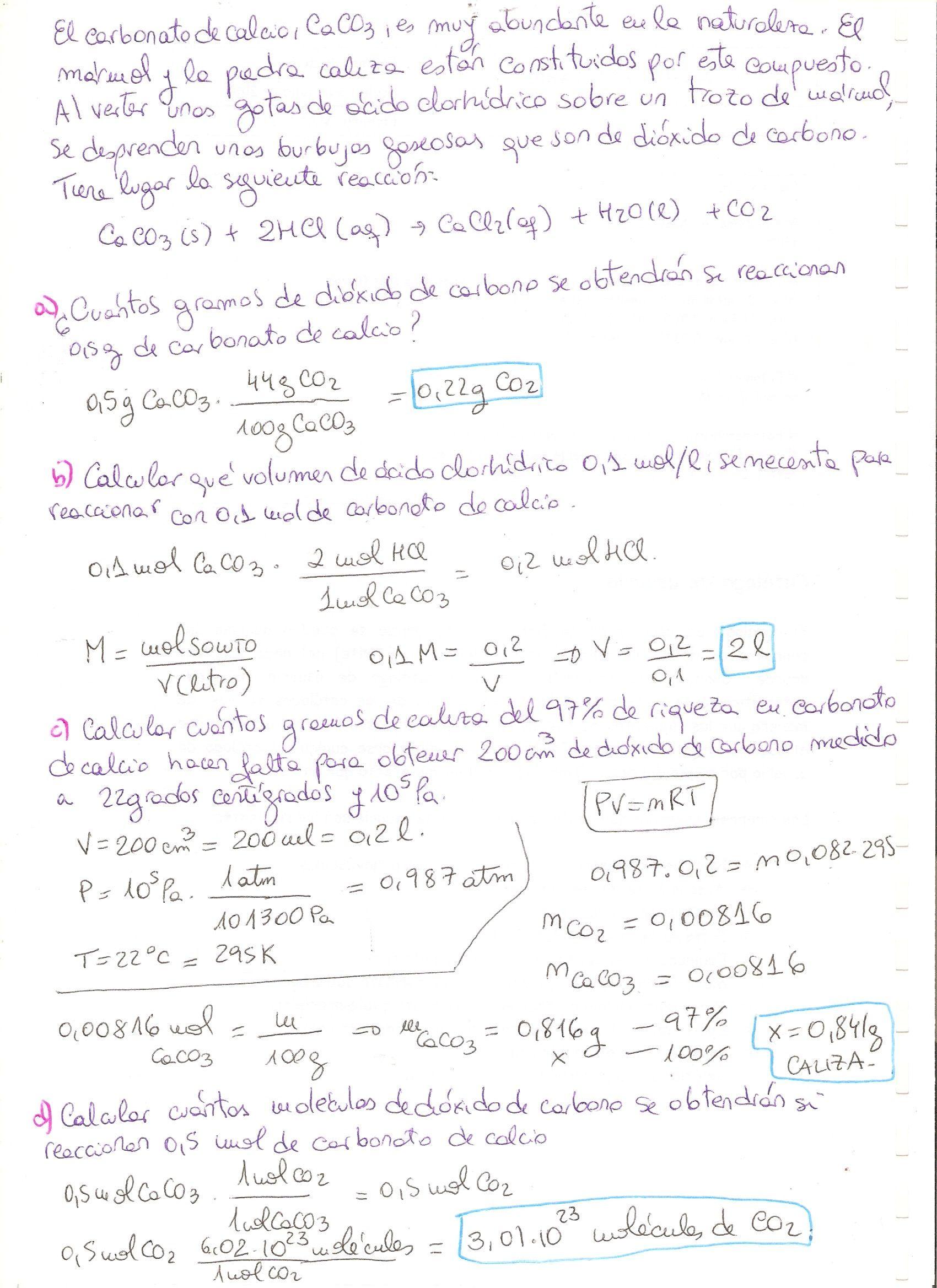 Ejercicio Resuelto De Reacciones Químicas Nivel 4 Eso