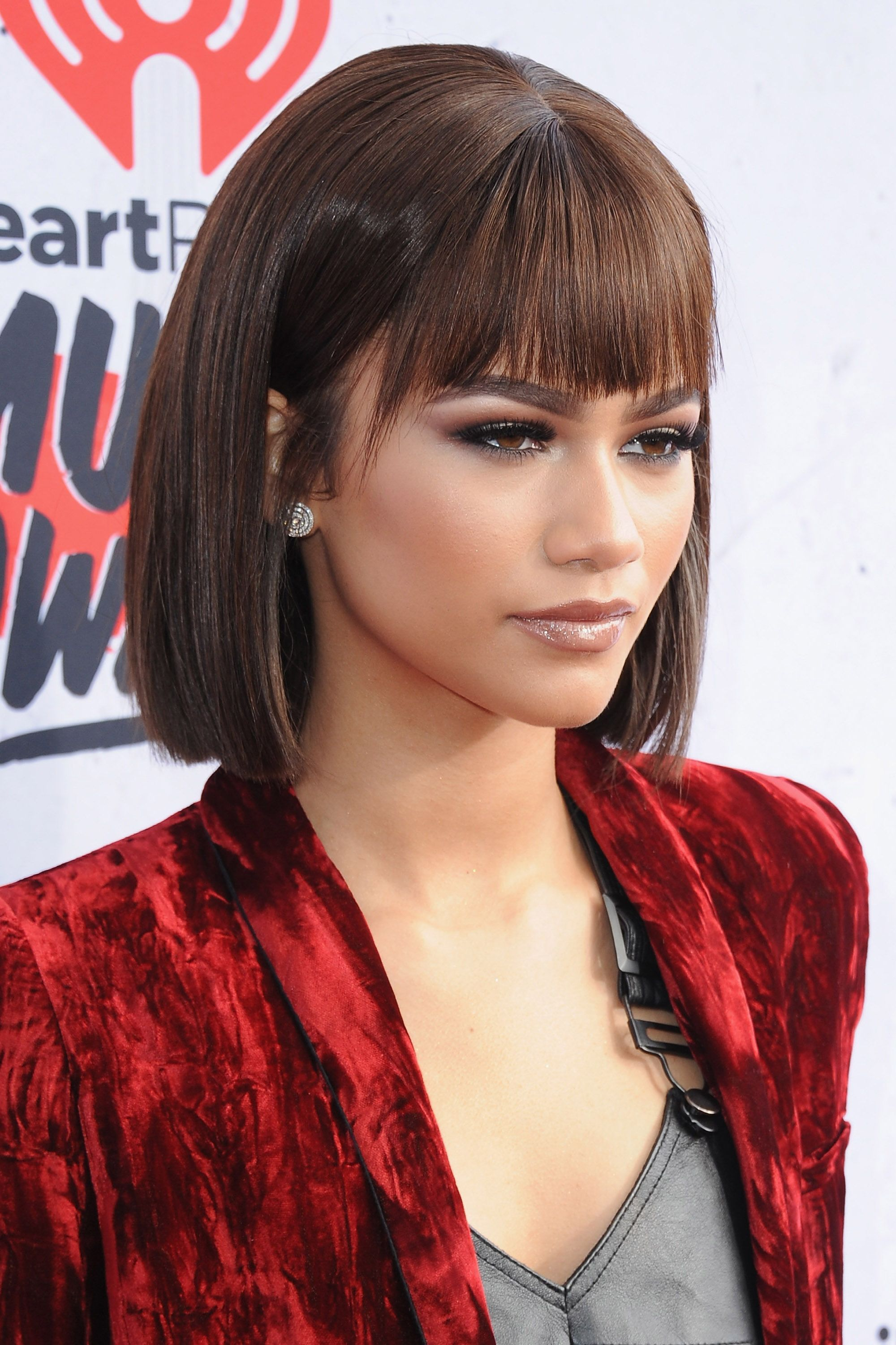 20 Blunt Bangs Hairstyles Inspired By Celebs With The Best Bangs I Am Co Zendaya Hair Hairstyles With Bangs Bobs Haircuts