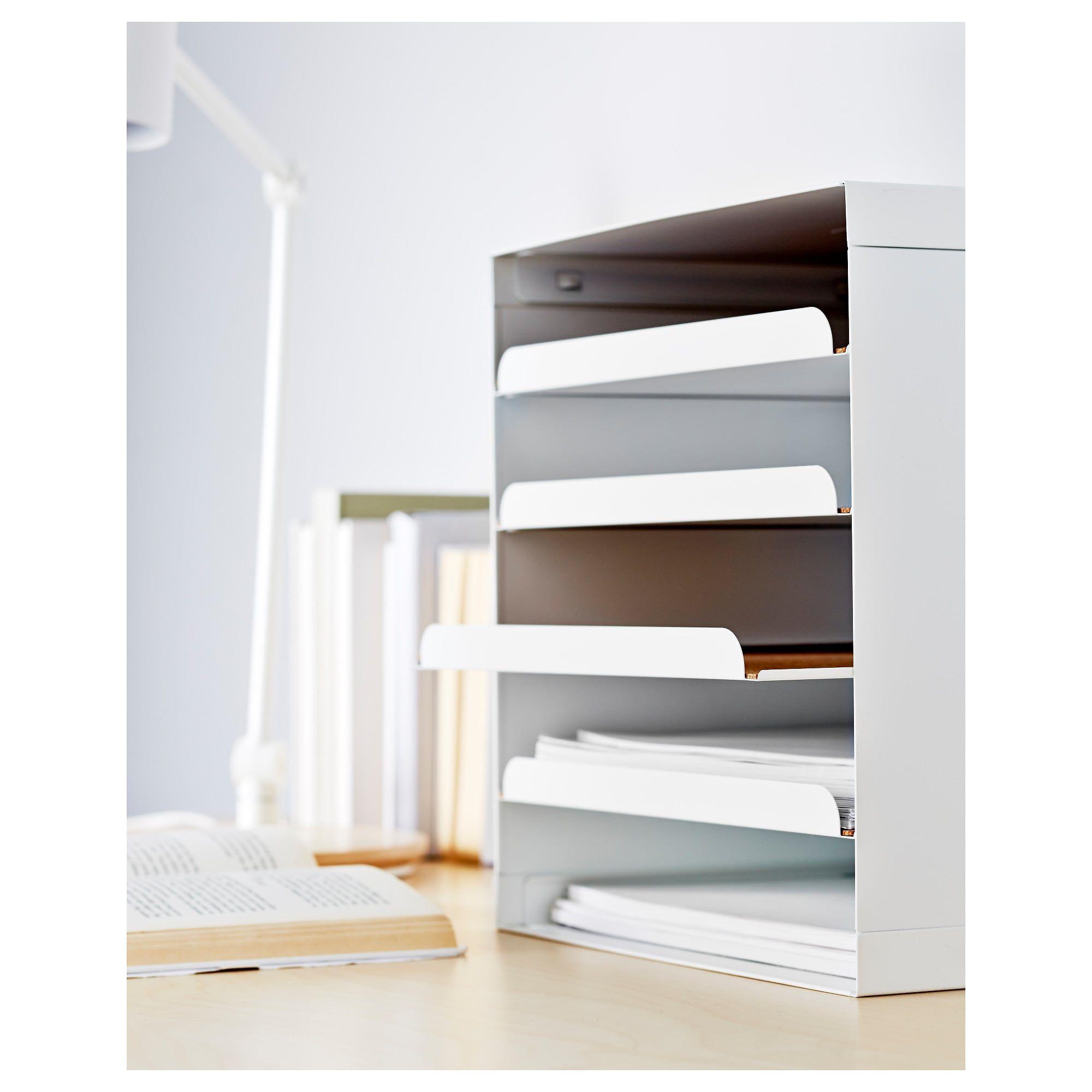 Kvissle White Letter Tray Ikea Letter Tray Ikea Desk Accessories