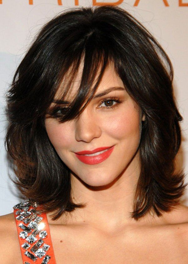 Medium hairstyles for thick hair oval face