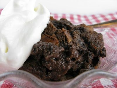 SUE'S CHOCOLATE CUSTARD BREAD PUDDING