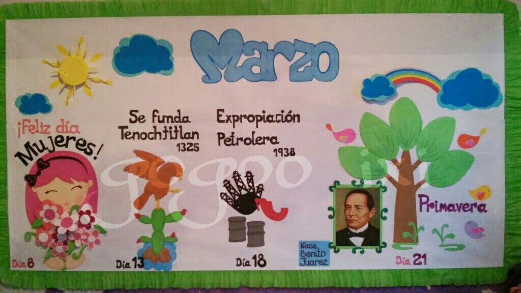Periodico Mural Marzo Bulletin Boards Ideas Classroom Bulletin