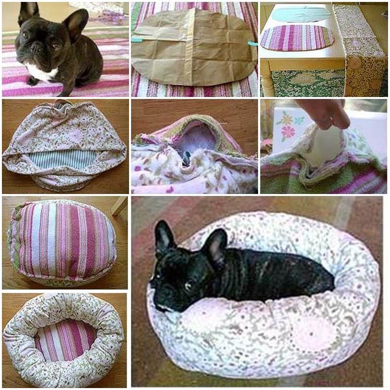 Diy Round Puppy Bed Lovepetsdiy Com Diy Dog Bed Diy Pet Bed Fleece Dog Bed