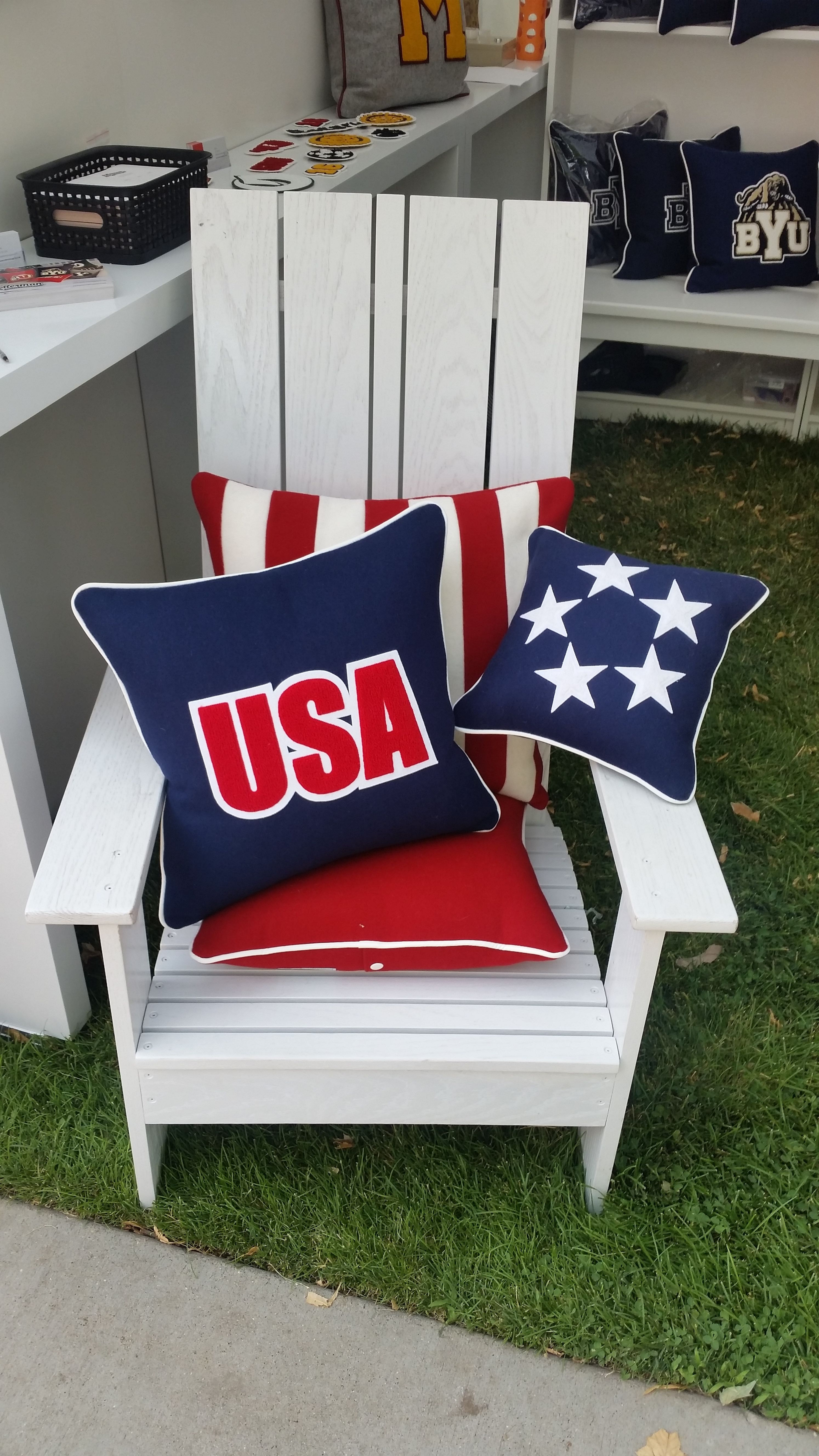 Celebrate america with a letterman pillow after all itus the
