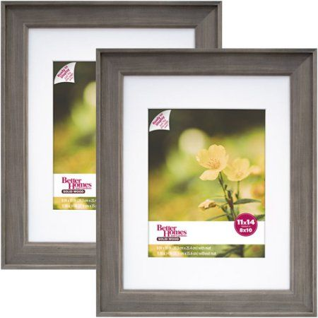 Better Homes Gardens 11x14 8x10 Rustic Wood Picture Frame 2pk Walmart Com Wood Picture Frames Picture On Wood Rustic Frames