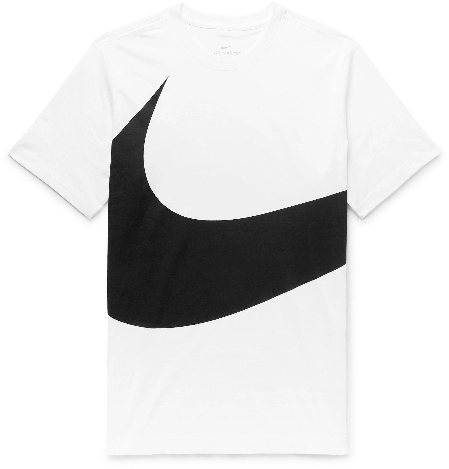 Nike Sportswear Logo Print Cotton Jersey T Shirt Men White