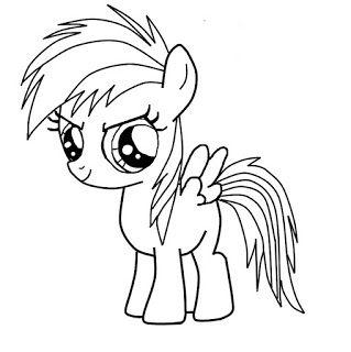 Mewarnai Gambar Rainbow Dash Coloring My Little Pony Coloring