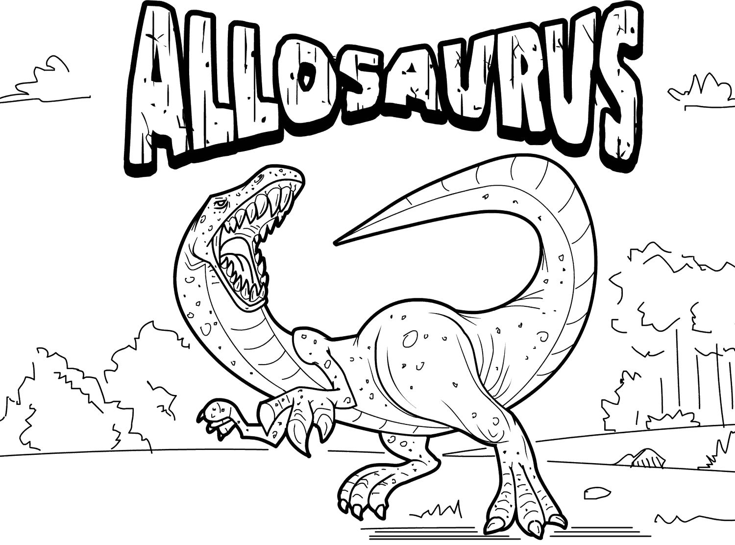 Allosaurus Coloring Page Dinosaur Coloring Pages Dinosaur Coloring Unicorn Coloring Pages