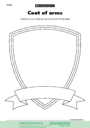 Create your own individual coat of arms with this template seth