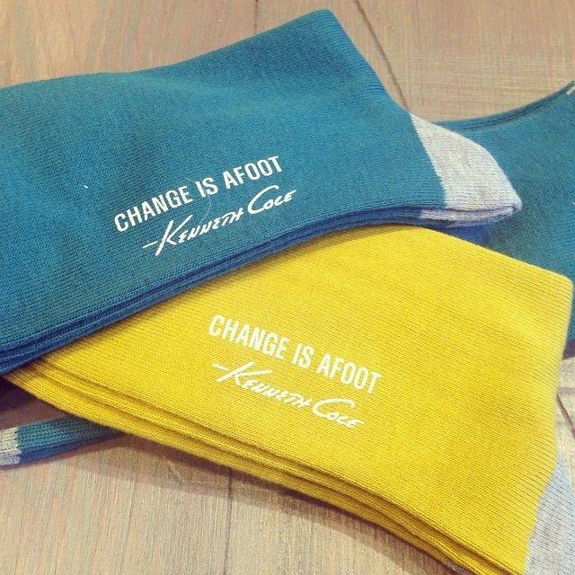 """Change Is Afoot"" Sock - Kenneth Cole #EmbraceThePresent"