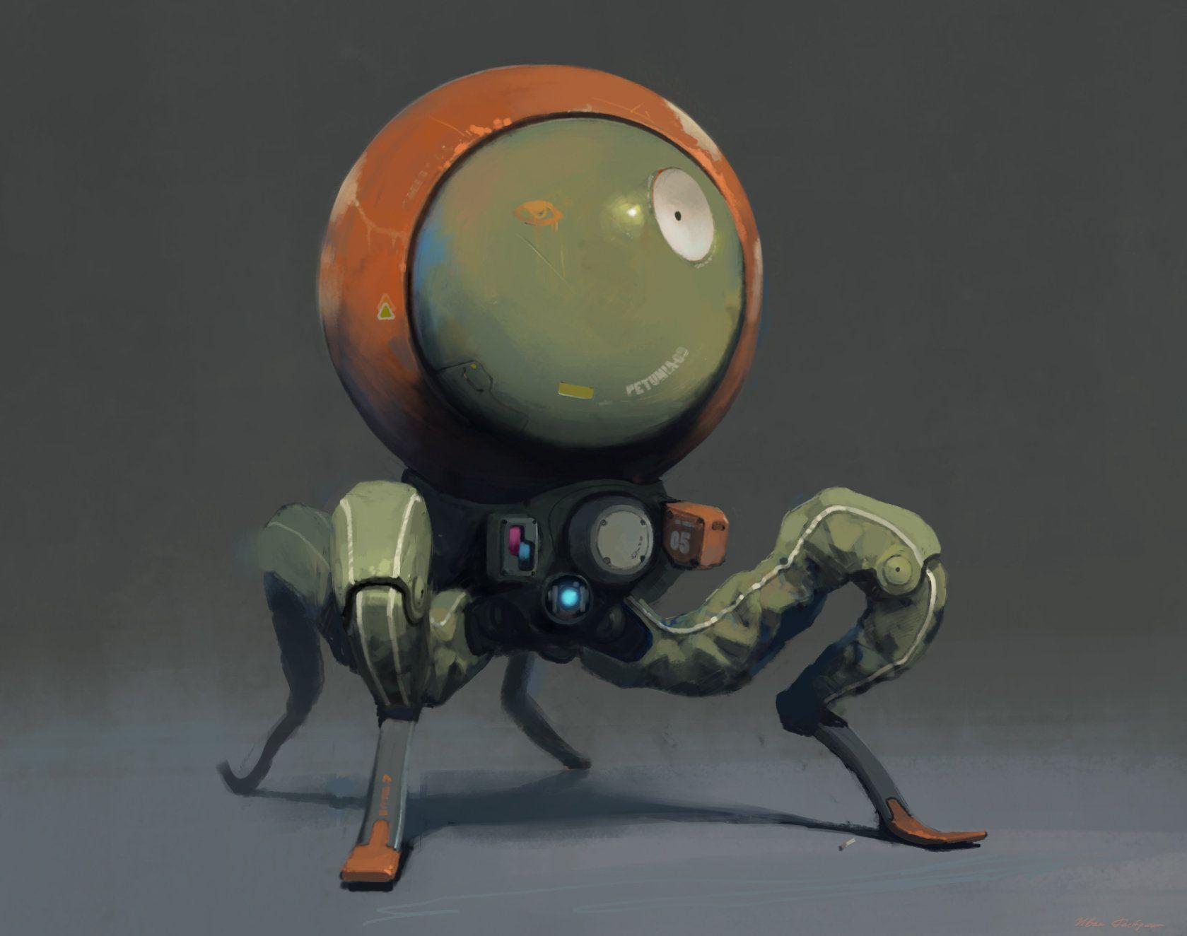 Artstation Bot Radar Ivan Rastrigin Robots 2 Pinterest