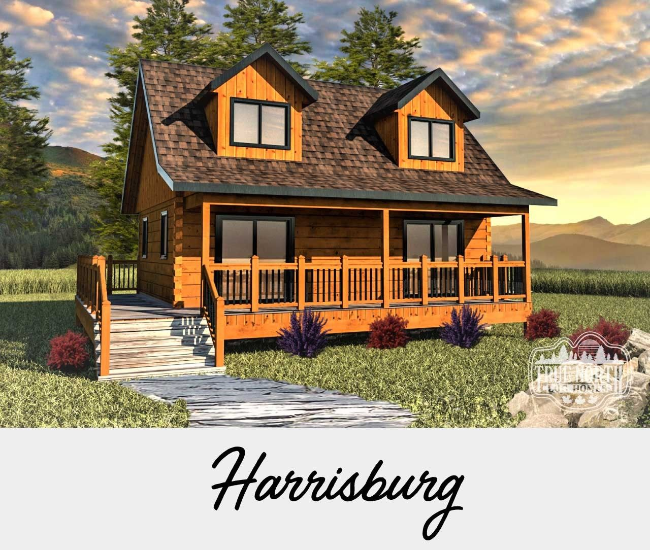 The Cabin Series By True North Log Homes Small Log Cabin Houses Small Log Cabin Plans Log Homes
