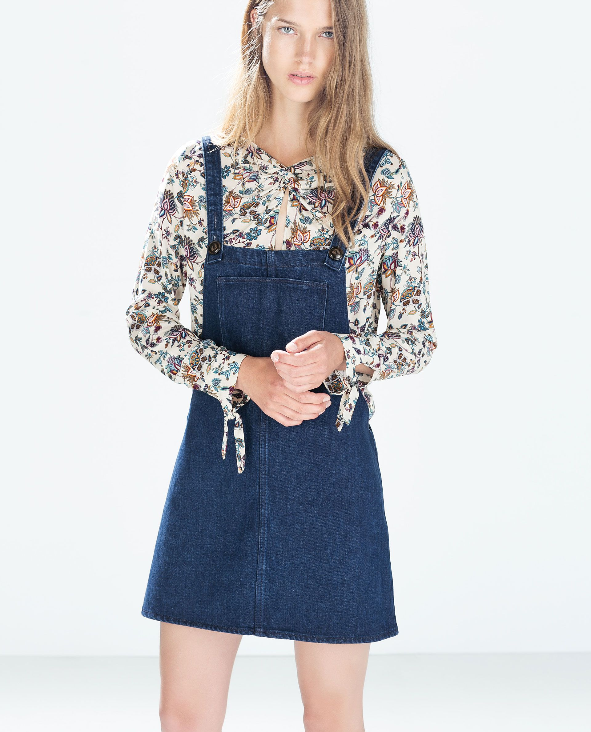 d3e463bc963 ZARA - TRF - PRINTED SHIRT WITH KNOT