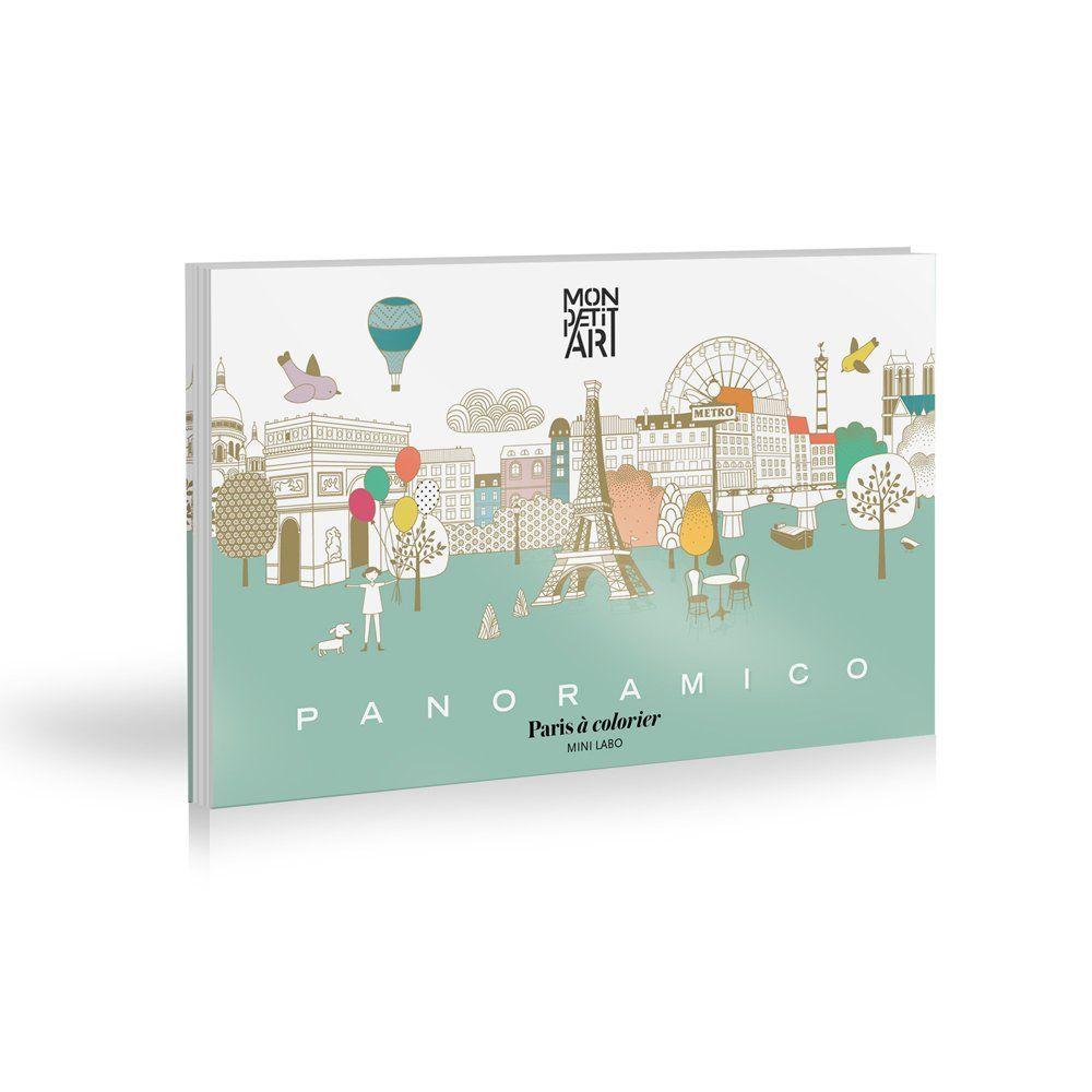 Coloriage panoramique de Paris Blanc Mon Petit Art Jouet et ... a27045138995