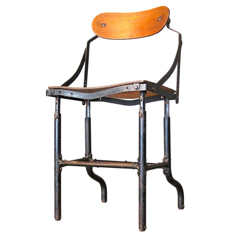 american industrial design office chair c.1920's | industrial
