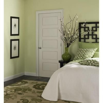 Superior Masonite Riverside Smooth 5 Panel Equal Hollow Core Primed Composite  Prehung Interior Door 10584 At The Home Depot
