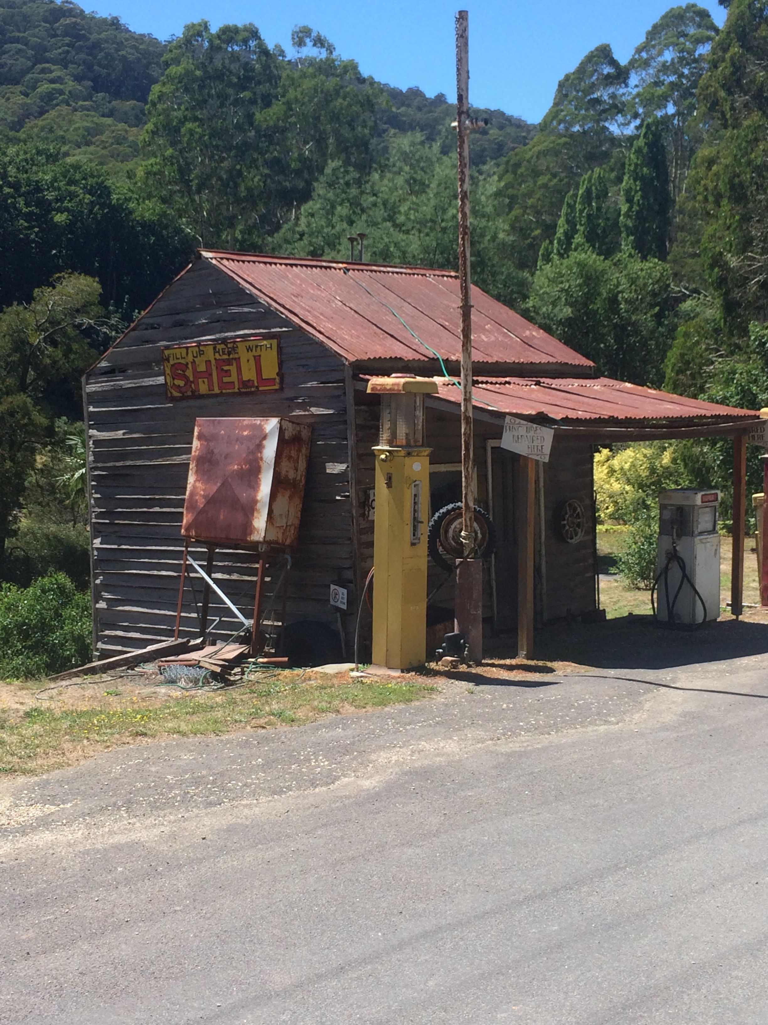 Woods point service station. Victorian high country. Still