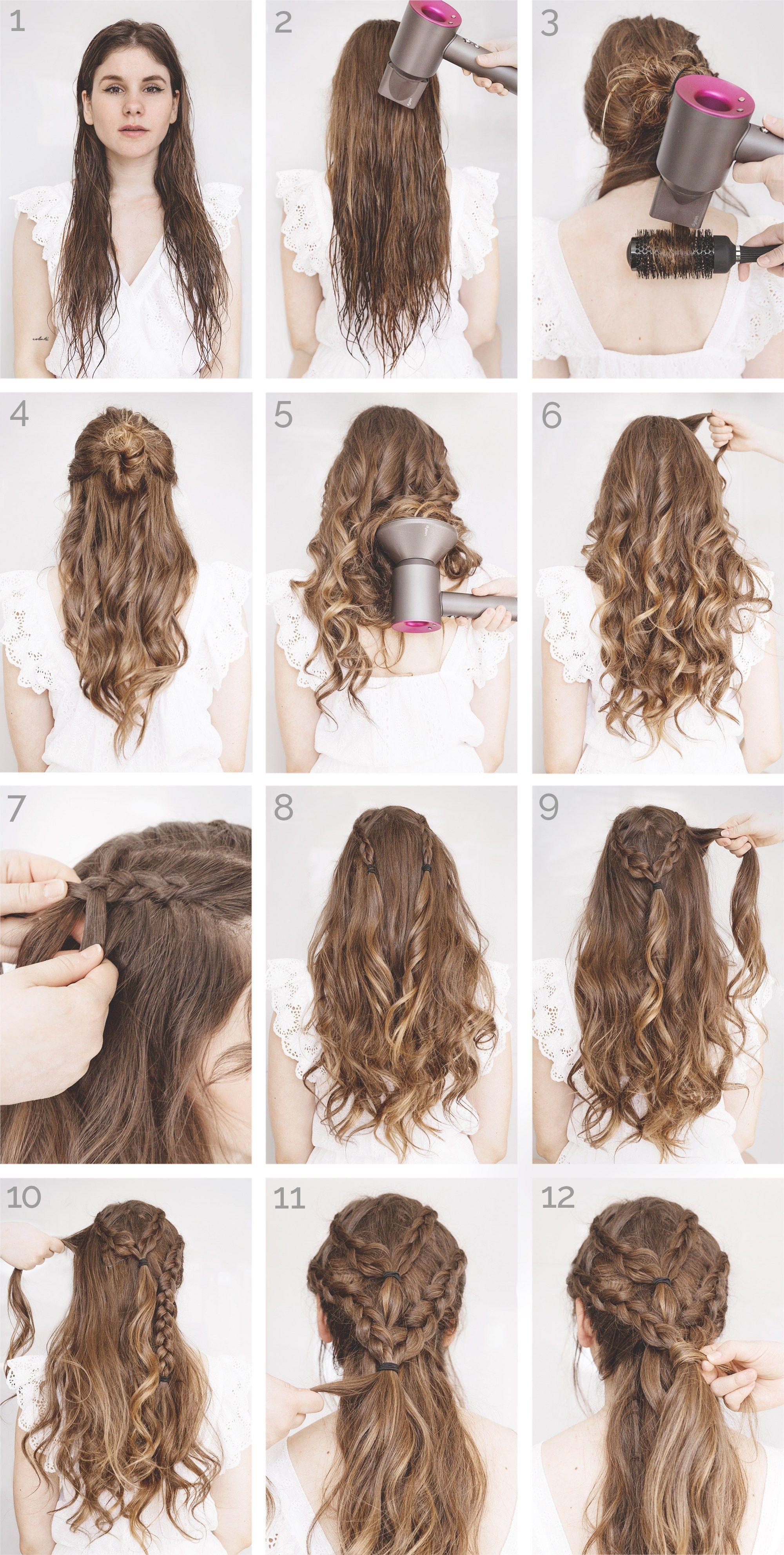 Schones Frisuren Tutorial Hair Do With Bang Hair Styles Long