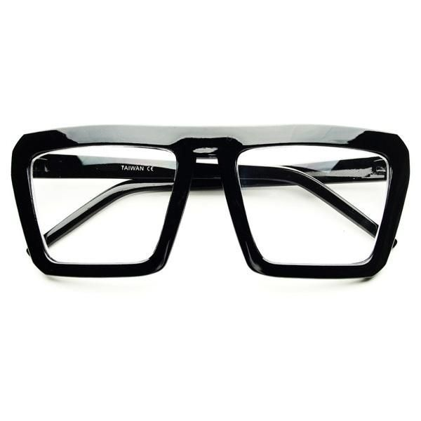 details about vintage retro square clear lens flat top eye glasses fashion frames unisex p111