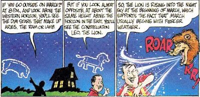 """Wild Birds Unlimited: Is there any truth to the saying """"If March comes in like a lion, it will go out like a lamb?"""" cartoon from jackstargazer.com-cartoonMar99"""