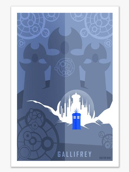 Doctor Who Gallifrey Poster Modern Pattern Pinterest Tardis