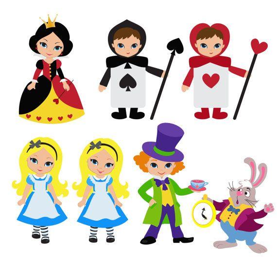 Wonderland Digital Clipart Alice In Wonderland Por Sandydigitalart