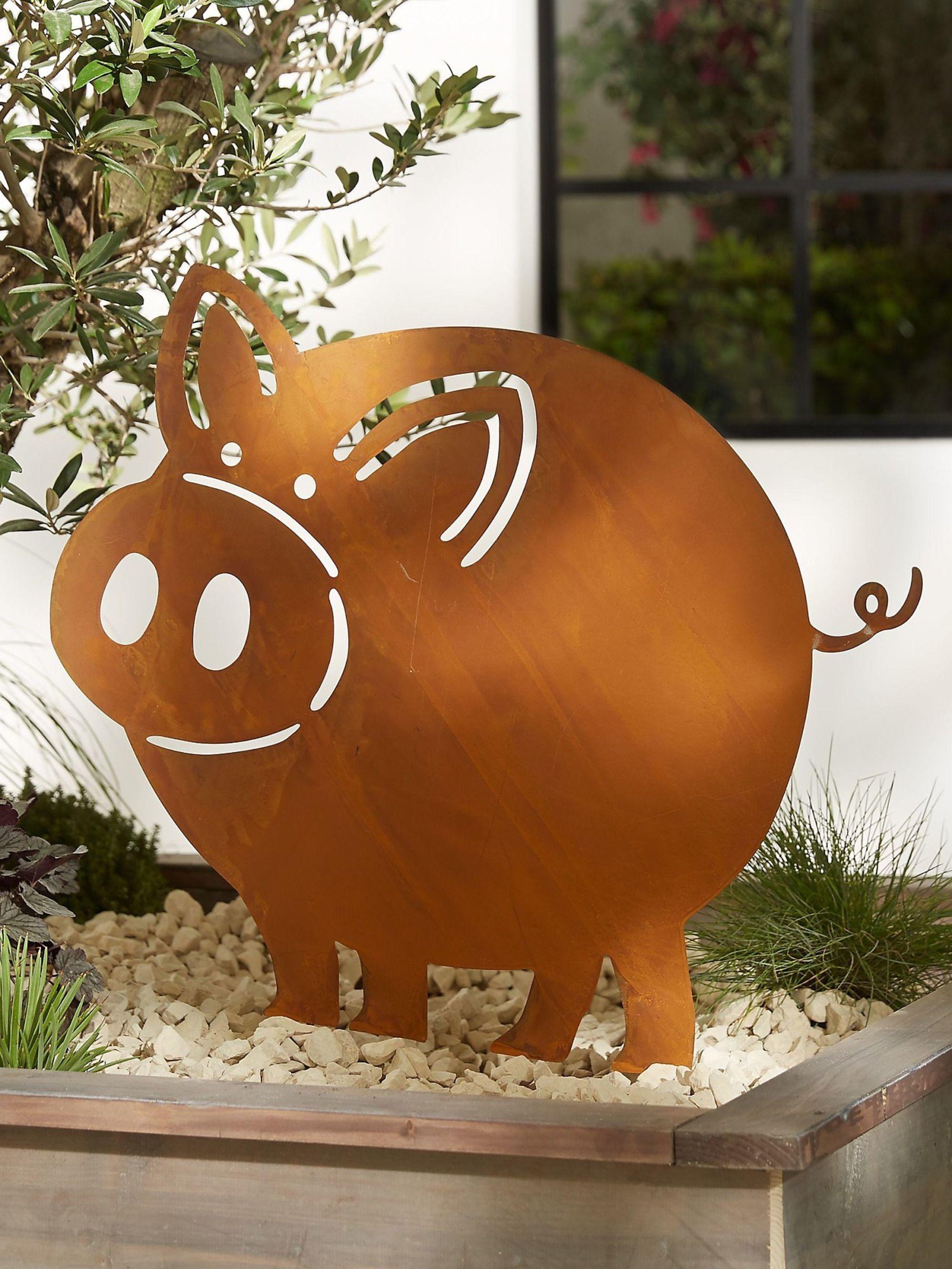 Gartenstecker Schwein Leon Jetzt Bei Weltbild De Bestellen Gartenstecker Herbst Veranda Dekorationen Rost Deko Garten