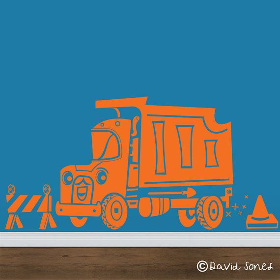 Vinyl Wall Decal Construction Equipment Speedy Dump By Beepart - Custom vinyl wall decal equipment