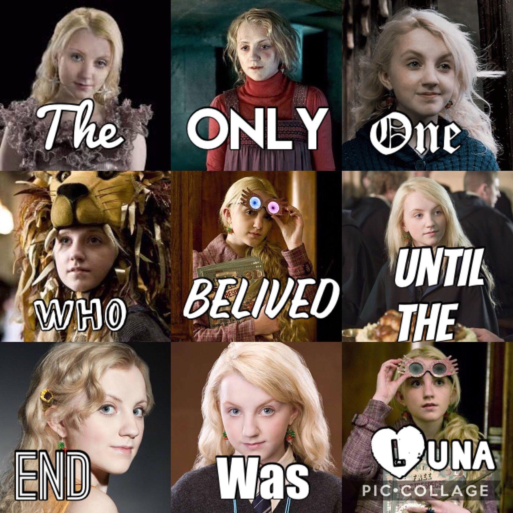 Ich Liebe Luna Sie Ist Eine Meiner Favoriten Zeichen Harrypotterzeichen Harry Potter Feels Harry Potter Memes Harry Potter Spells